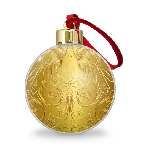 Ёлочный шар с блестками  Фото 01, GOLD #6