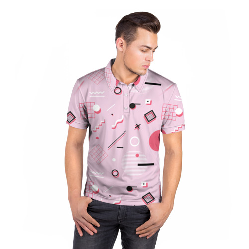 Мужская рубашка поло 3D  Фото 05, Арт-деко
