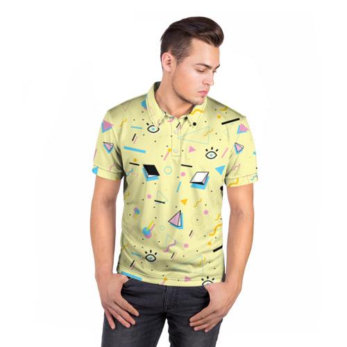 Мужская рубашка поло 3D  Фото 05, Веселая абстракция