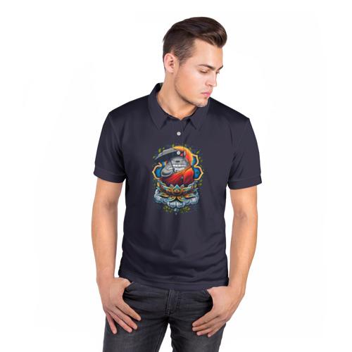 Мужская рубашка поло 3D  Фото 05, Тоторо Монах