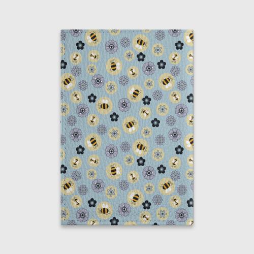 Обложка для паспорта матовая кожа Пчелки Фото 01