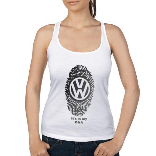 Женская майка борцовка  Фото 01, Volkswagen it's in my DNA