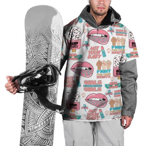 Накидка на куртку 3D  Фото 01, GRL PWR
