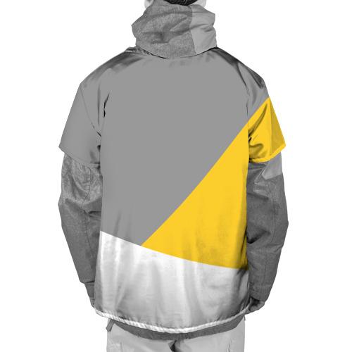 Накидка на куртку 3D  Фото 02, Серый, желтый, белый-идеальное сочетание!