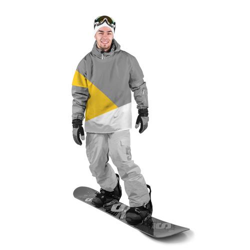 Накидка на куртку 3D  Фото 03, Серый, желтый, белый-идеальное сочетание!