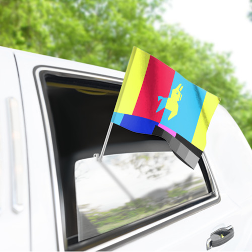 Флаг для автомобиля  Фото 03, Лама Фортнайт