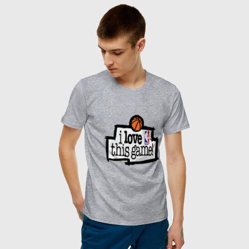 Мужская футболка хлопок I love this game Фото 01