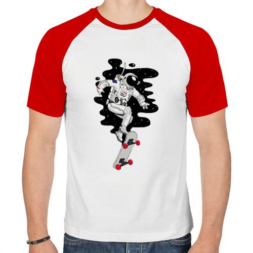 Мужская футболка реглан  Фото 01, Космо скейт