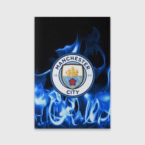 Обложка для паспорта матовая кожа MANCHESTER CITY