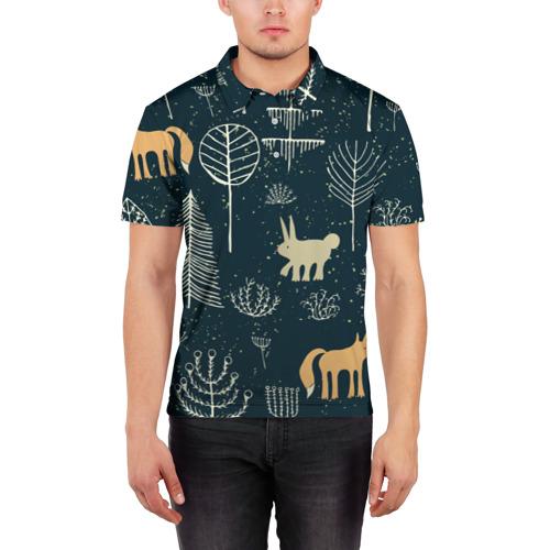 Мужская рубашка поло 3D  Фото 03, Чудеса природы