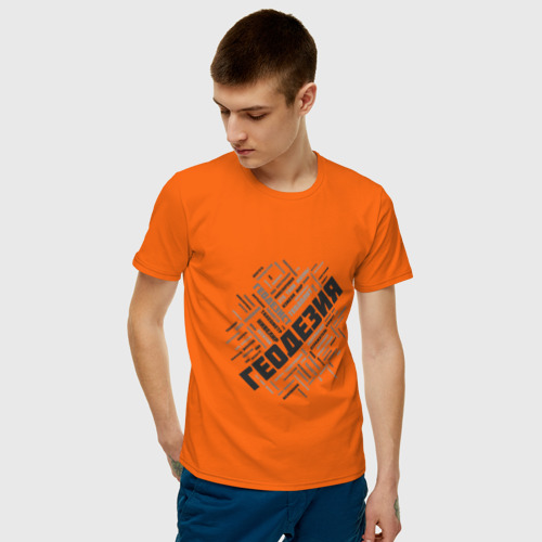 Мужская футболка хлопок Геодезия облако слов Фото 01