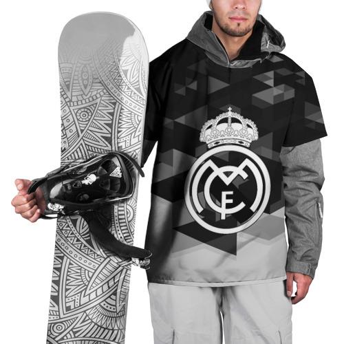 Накидка на куртку 3D  Фото 01, FC Real Madrid sport geometry
