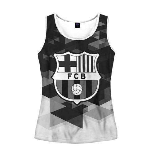 Женская майка 3D  Фото 01, FC Barcelona sport geometry