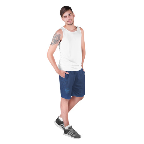 Мужские шорты 3D  Фото 03, Russia Shorts 2018 (Light-Blue)
