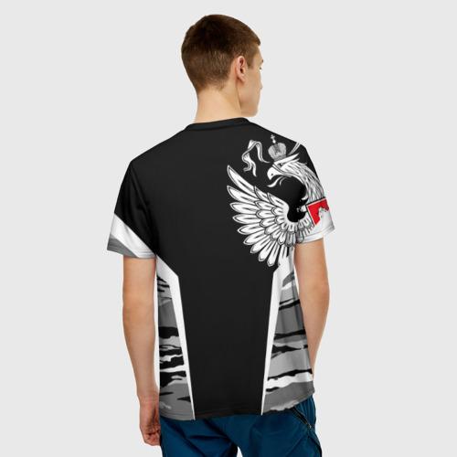 Мужская футболка 3D 'Камуфляж Россия'