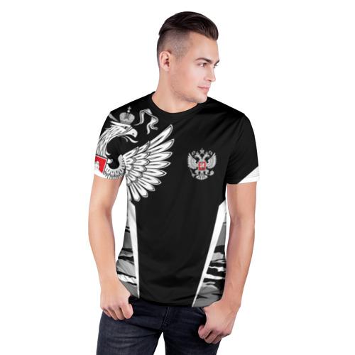 Мужская футболка 3D спортивная Камуфляж Россия Фото 01