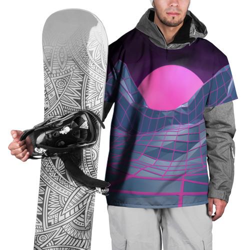 Накидка на куртку 3D  Фото 01, Purple sun