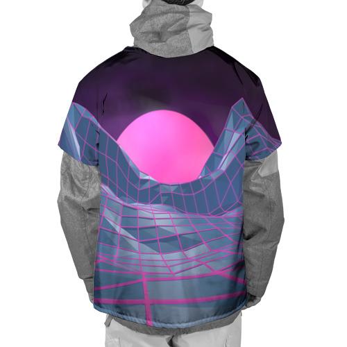 Накидка на куртку 3D  Фото 02, Purple sun