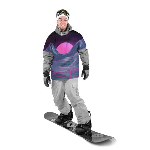 Накидка на куртку 3D  Фото 03, Purple sun