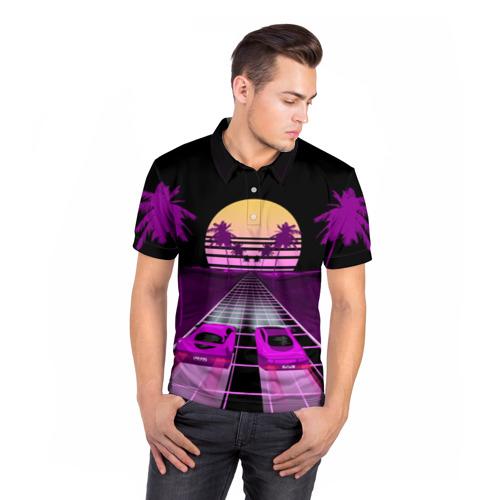 Мужская рубашка поло 3D  Фото 05, Vaporwave