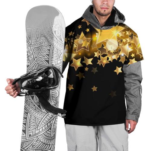 Накидка на куртку 3D  Фото 01, Золотые звездочки