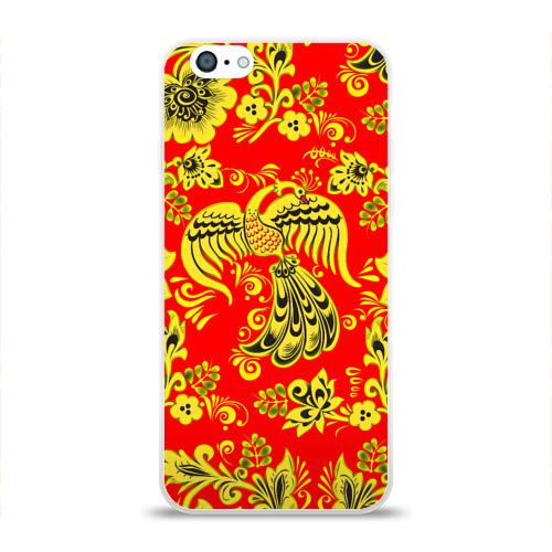 Чехол для Apple iPhone 6 силиконовый глянцевый  Фото 01, Огненная гжель
