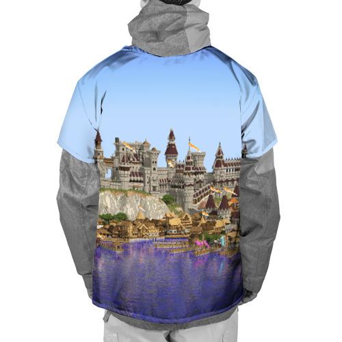 Накидка на куртку 3D  Фото 02, Корабль и замок в манкрафт.