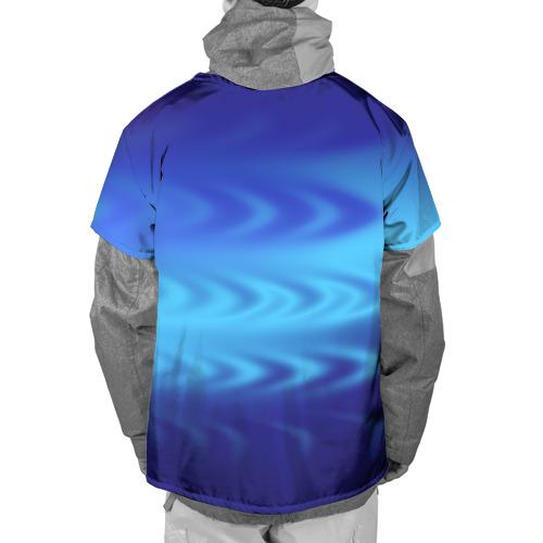 Накидка на куртку 3D  Фото 02, Цвет настроения синий