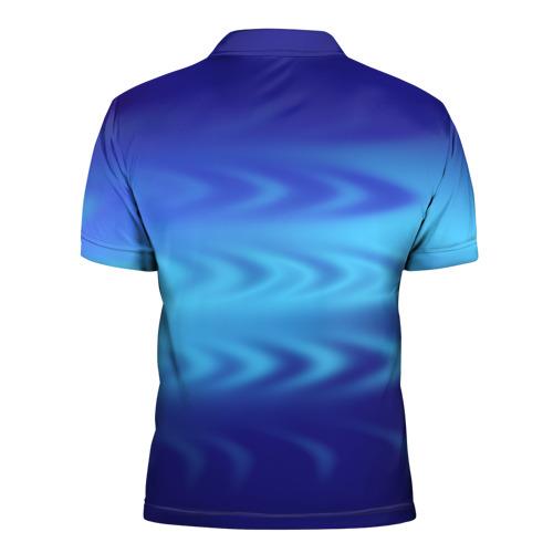 Мужская рубашка поло 3D  Фото 02, Цвет настроения синий