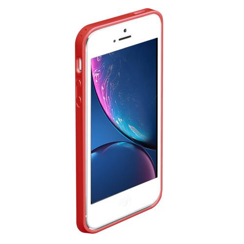 Чехол для iPhone 5/5S матовый Red machine (Красная машина) Фото 01