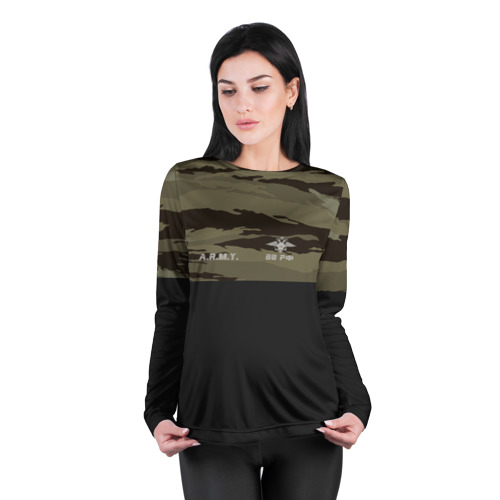 Женский лонгслив 3D для беременных  Фото 04, Камуфляж ВВ РФ
