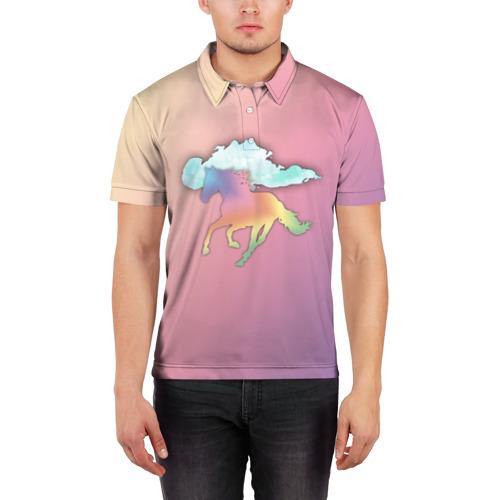 Мужская рубашка поло 3D  Фото 03, Run