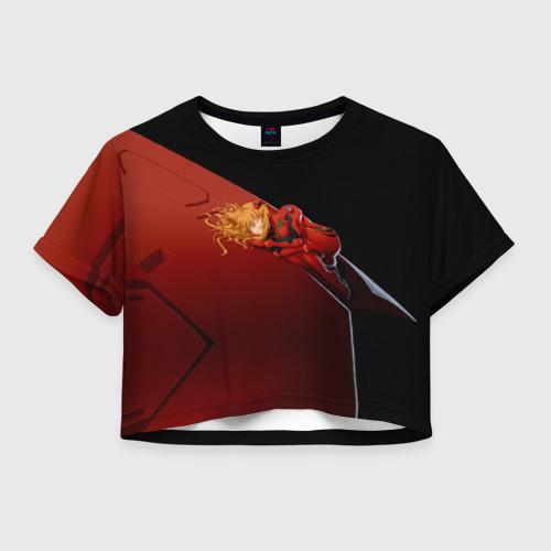Женская футболка Crop-top 3D Asuka Langley Soryu Фото 01