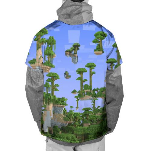 Накидка на куртку 3D  Фото 02, Стив среди парящих островов.