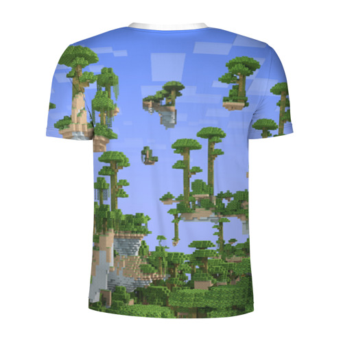 Мужская футболка 3D спортивная  Фото 02, Стив среди парящих островов.