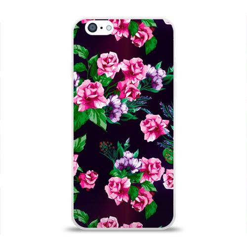Чехол для Apple iPhone 6 силиконовый глянцевый  Фото 01, Розы