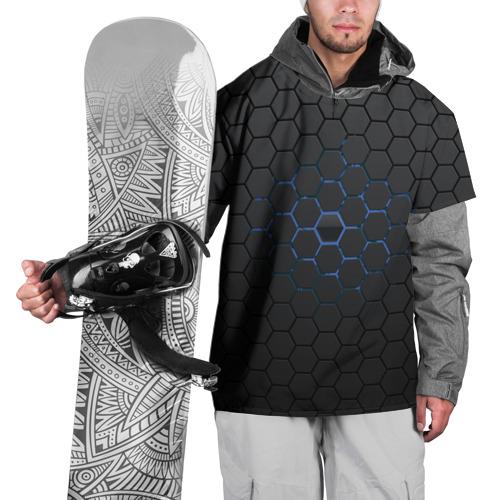 Накидка на куртку 3D  Фото 01, Соты карбон