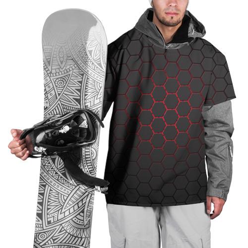 Накидка на куртку 3D  Фото 01, Соты карбона