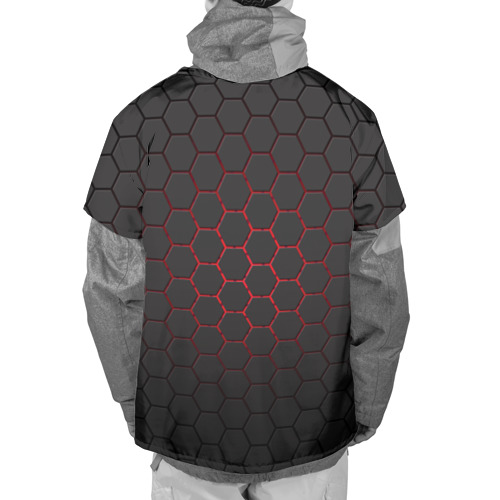 Накидка на куртку 3D  Фото 02, Соты карбона