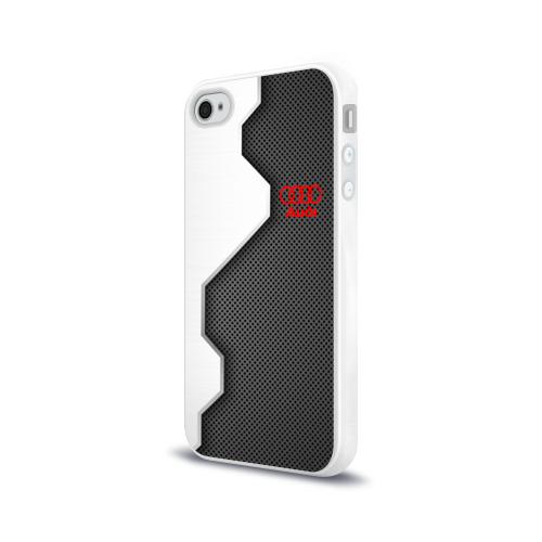 Чехол для Apple iPhone 4/4S силиконовый глянцевый  Фото 03, Audi sport uniform auto
