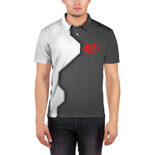 Мужская рубашка поло 3D  Фото 03, Kia sport uniform auto