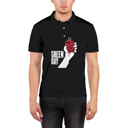 Мужская рубашка поло 3D  Фото 03, Green Day