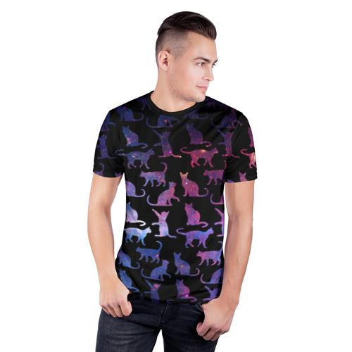 Мужская футболка 3D спортивная  Фото 03, Космические Коты