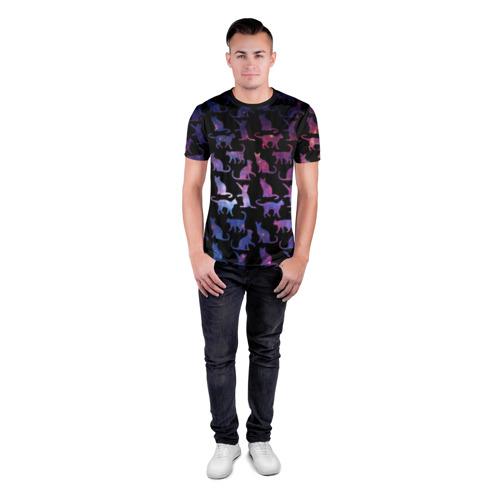 Мужская футболка 3D спортивная  Фото 04, Космические Коты