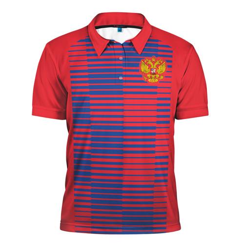 Мужская рубашка поло 3D  Фото 01, Russia WC Pre-match
