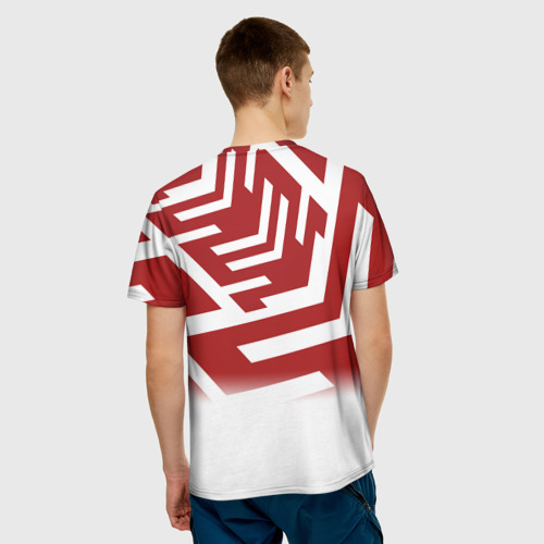 Мужская футболка 3D  Фото 02, PATTERN RED