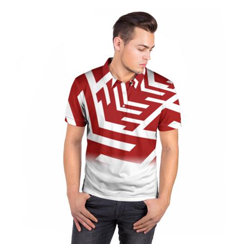 Мужская рубашка поло 3D  Фото 05, PATTERN RED