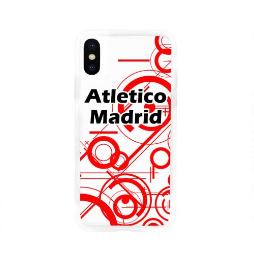 Чехол для Apple iPhone X силиконовый глянцевый Atletico Madrid