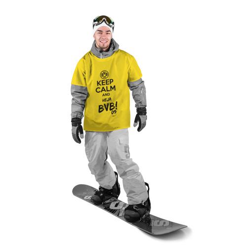 Накидка на куртку 3D  Фото 03, Keep calm and Heja BVB