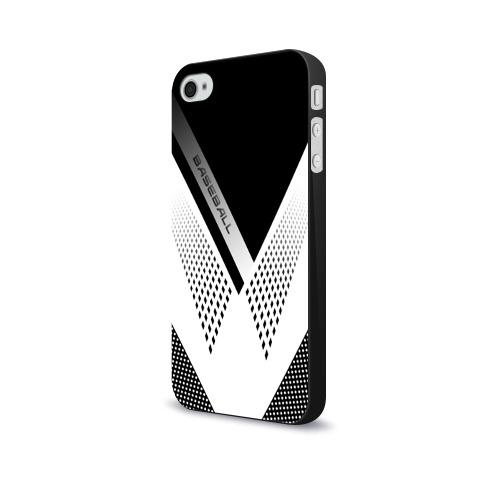 Чехол для Apple iPhone 4/4S soft-touch  Фото 03, BASEBALL (бейсбол)